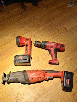 3 Tool Milwaukee Combo 18V Set *(No Charger)* for Sale in Columbia, SC