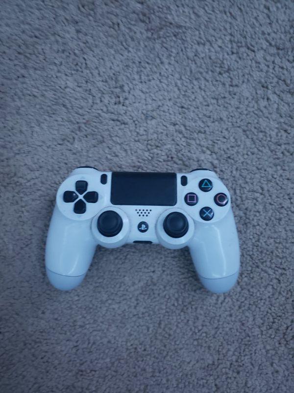White PS4 Controller