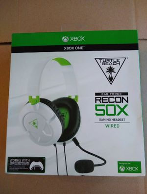 TURTLE BEACH - EAR FORCE RECON 50X OVER-THE-EAR WIRED GAMING HEADSET FOR XBOX ONE, PS4, PC AND MOBILE - WHITE/GREEN for Sale in Richardson, TX