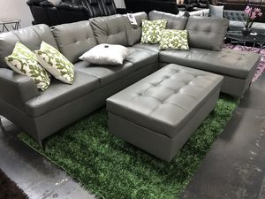 🔥Grey Tufted Sectional 🔥 $600 or $39 Down for Sale in Irving, TX