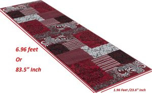Hallway area rug brand new red and grey color for Sale in Salem, OR