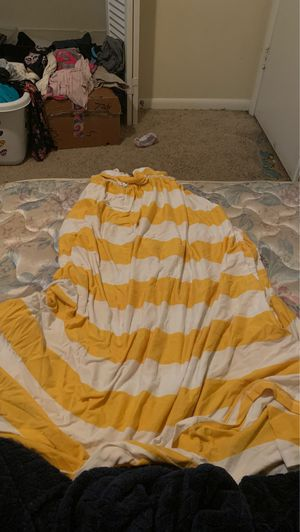 Yellow and white striped sun dress for Sale in Stone Mountain, GA