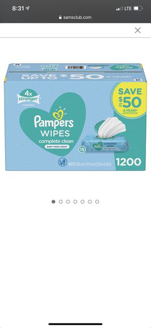 Pampers baby wipes (pending pick up) for Sale in South Gate, CA