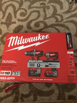 Milwaukee M-18 brushless 2-tool combo kit for Sale in Hyattsville, MD