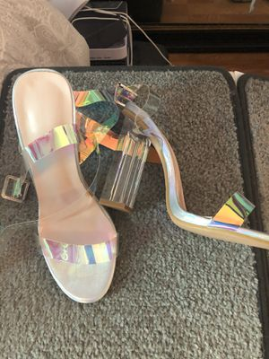Clear block heels size 7 for Sale in Los Angeles, CA