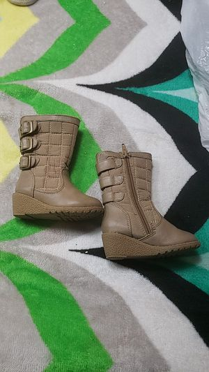 Nude Boots Zipper size 5M for children for Sale in Ontario, CA
