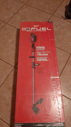 Milwaukee m18 fuel battery 8.0 and charger rapid string trimmer kit w/ Quik- lok 2825- 21st for Sale in Exeter, CA