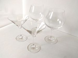 Crystal Red Wine and Martini Glasses   Set of 2 each for Sale in Portland, OR