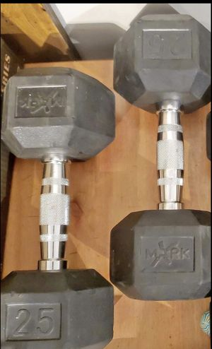 Like new 25lbs dumbbell set for Sale in Queens, NY