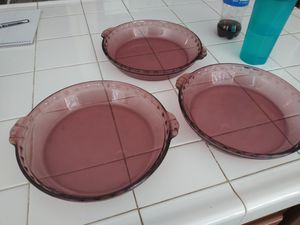 Pyrex pie pans for Sale in Wildomar, CA