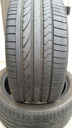 (2) 275/40/20 BRIDGESTONE DULLER USED TIRES BMW X5 TRUCK JEEP SUV for Sale in Tampa, FL