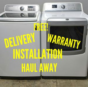 FREE DELIVERY/INSTALLATION/WARRANTY/HAUL AWAY - Samsung Washer & Maytag Bravos Dryer for Sale in Hilliard, OH