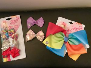 6 BRAND NEW GIRLS JoJo HAIR-BOW ACCESSORIES for Sale in Colorado Springs, CO