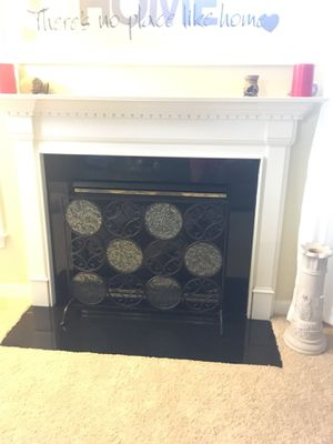 Fireplace stand/cover ... metal heavy good quality for Sale in Gainesville, VA