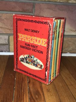 Vintage 1970 Walt Disney Parade Fun Fact Fantasy Fiction Books Set Of 4 for Sale in French Creek,  WV