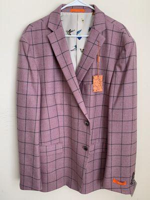 Tallia Blazer Jacket $350 pink/black color Size 50Regular 100% wool for Sale in Sterling, VA