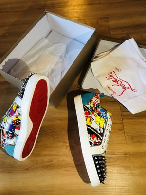 Christian Louboutin men's limited chrome spike sneaker for Sale in Lynwood, CA