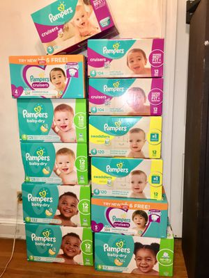 PAMPERS ALL SIZES (HUGE VALUE) for Sale in Baltimore, MD