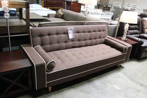 SPL Brown Futon Bed with Pillows, 7567DB for Sale in Santa Fe Springs, CA