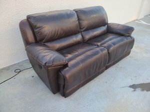 CHEERS Dark Brown Leather Sofa and Recliner Set for Sale in Fort Lauderdale, FL