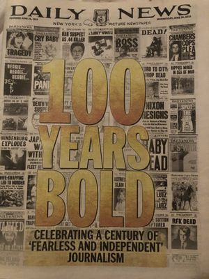 100 YEAR ANNIVERSARY DAILY NEWS PAPER . Rare buy ! for Sale in The Bronx, NY