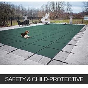 16 ft. x 32 ft. Rectangle Blue Mesh In-Ground Safety Pool Cover for Sale in El Monte, CA