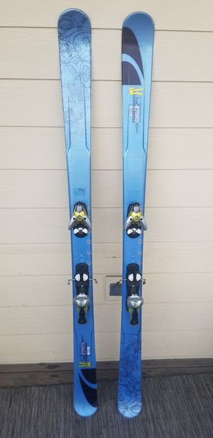 Salomon, Rocket Pocket 175 with bindings, gloves ,poles, goggles and balaclava. for Sale in Denver, CO
