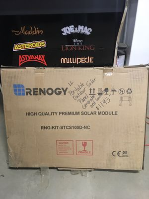 Renogy portable outdoor solar system for Sale in Kingsburg, CA