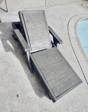 All Wood Pool Lounger for Sale in Oceanside, CA