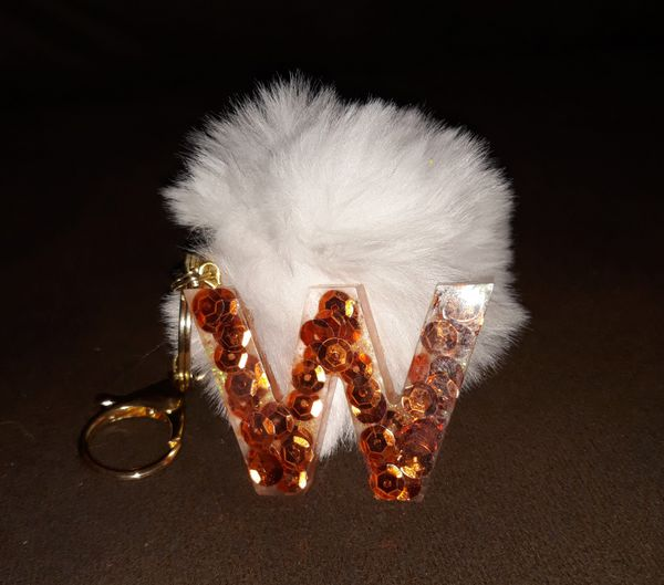 Supreme Keychain Sweet Heart Shaped Resin Bag