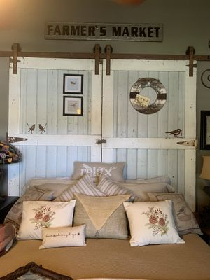 Barn door headboard for Sale in Fallbrook, CA