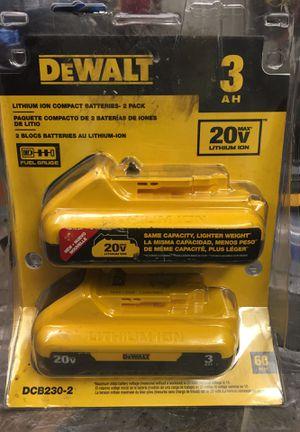 DeWalt 3.0 AH 20V lithium ion 2 pack DCB230-2 for Sale in Anaheim, CA