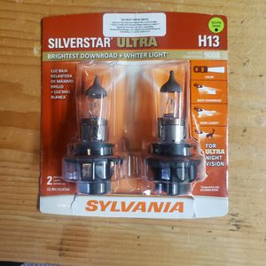 Sylvania Silverstar Ultra Whighter H13 or 9008 Headlight Bulbs for Sale in Seattle, WA