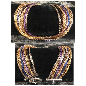 MILOR Italy 925 10 Multistrand / Multicolor Bracelet for Sale in Naperville, IL