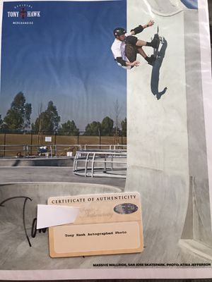 Tony Hawk autographed photo!! $75 for Sale in Wildomar, CA