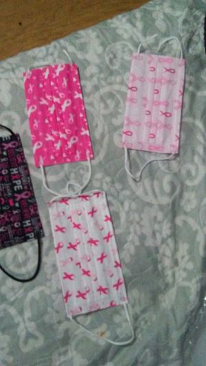 Breast cancer masks,show support $3ea.or2/$5 for Sale in Hemet, CA