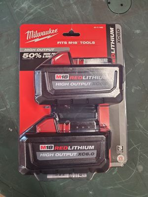 milwaukee m18 6.0xc batteries 2pack for Sale in Villa Park, IL