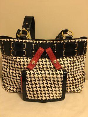 The Find Black and White Herringbone Handbag for Sale in Laurel, MD