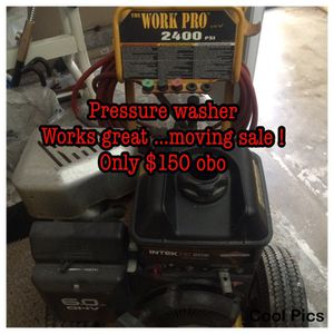 Pressure washer the work pro 2400psi... Works great ! Only $150 obo for Sale in San Diego, CA