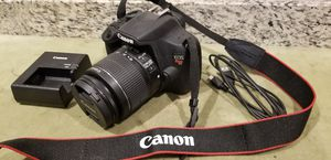 MINT CANON T5 18MP DIGITAL SLR CAMERA W/ 18-55MM LENS for Sale in San Diego, CA