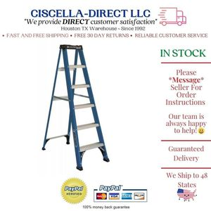6 ' FT Step Ladder Fiberglass 225 lb Capacity Construction Painting Electrical for Sale in Houston, TX