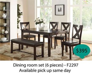 Dinning room set 6 pieces ( available pick up same day ) for Sale in Anaheim, CA