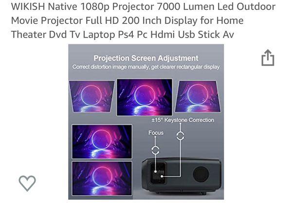 Wikish native 1080p 7000 lumen projector
