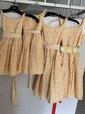 4 flower girl/summer dresses for Sale in Scottdale, GA