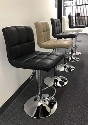 """NEW $40 each 24"""" to 33"""" seat height swivel barstool bar chair black brown grey or white for Sale in Covina, CA"""