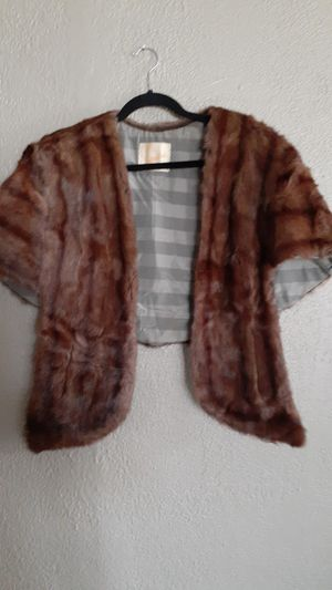 Real fur shawl for Sale in Chino, CA