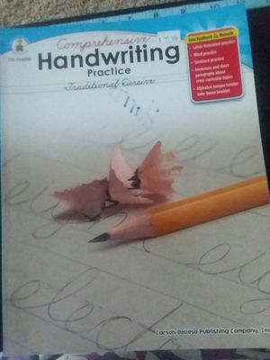 Comprehensive Handwriting Practice Traditional Cursive for Sale in Gilmer, TX