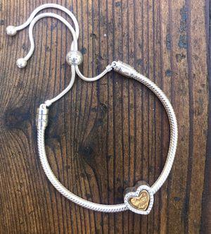 Pandora In My Heart split charm (bracelet included) for Sale in Sonoma, CA