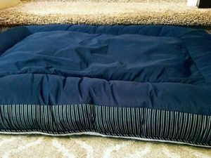 "Large Navy & Tan Plush Pet Bed - 39""W x 30""D x 5""H for Sale in Arvada, CO"