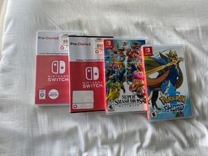 Nintendo Switch Game Bundle ( Pokemon Sword, Smash Bros, pokken Tournament, Lego Marvel Super heroes 2) for Sale in Annandale, VA